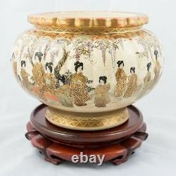 RARE Antique Japanese Satsuma Bowl late 1800s