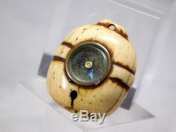 RARE Compass OJIME Bead NETSUKE 19thC Japanese Original Antique Edo Meiji INRO