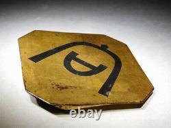 RARE Gold Urushi Nuri KAMON MAEDATE Japanese Edo Original Antique for Kabuto
