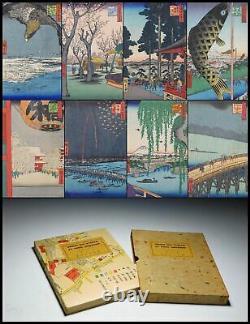RARE HIROSHIGE Meisho Edo Hyakkei 30 Prints Japan Original Woodblock Print Book
