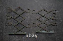 RARE Japanese Antique Steel Scissor Hooks Meiji Taisho Period Vintage