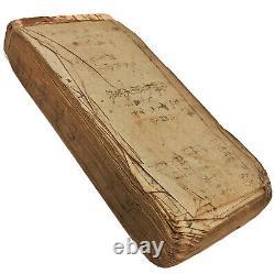 RARE Japanese Edo Period Sword Book Circa 1697 Woodblock Print Manuscript Old