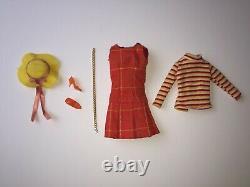 RARE Japanese Exclusive Barbie Japan VINTAGE PLAID DRESS & accessories NO DOLL