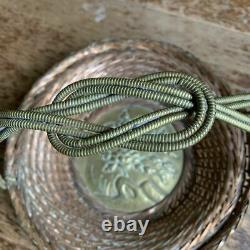 RARE Japanese Meiji bronze & brass woven basket Aesthetic Movement 1868-1912