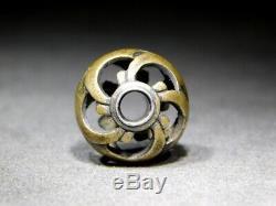 RARE Open-work OJIME Bead NETSUKE 19thC Japanese Edo Meiji Antique for INRO