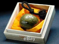 RARE SUMITSUBO-NETSUKE (Ink pot) 18-19thC Japanese Edo Antique for Yatate