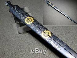 RARE Shakudo WARI-KOGAI KAMON 18-19thC Japanese Edo Tsuba Koshirae Antique
