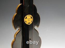 RARE Small Tachi-Kake Tanto Stand Kamon Makie Japan Original Edo Sword Antique