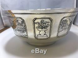RARE Sweetser Co. Sterling Silver &14k Aesthetic Movement Japanese Asian Bowl