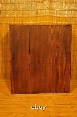 RARE UNUSUAL ANTIQUE JAPANESE SMALL TANSU PERSONAL STORAGE BOX with Pocket Doors