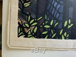 Rare 1971 Clifton Karhu's Koshihara House 40/80 Ukiyo-e Woodblock Print