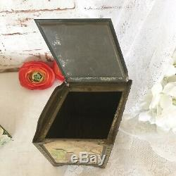 Rare Antique 1913 Japanese Folding Screen Tin Litho Box, Huntley & Palmers