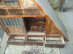 Rare Antique 19th Century Japanese Sloping Wood Tansu