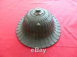 Rare Antique Authentic Japanese ZUNARI JINGASA Hat w\Family Mark of YOROI