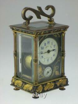 Rare Antique Fine 19th century French Japanese Carriage Clock