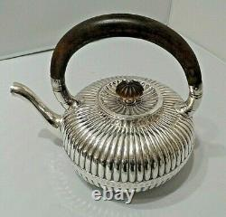 Rare Antique Gorham Silver Teapot Wood Handle And Wood Finial