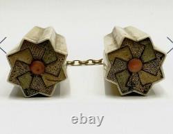 Rare Antique Japanese Shibayama Kogai Geisha Hair Ornament High Ct Gold Chain