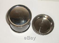 Rare Cloisonne Black Enamel Crane Birds Design Humidor Jar Box