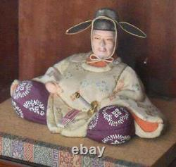 Rare Edo Period Antique Japanese Ningyo Of Toyotomi Hideyoshi 1537-1598 In Box