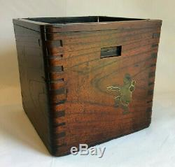 Rare Form Japanese Meiji Antique Hibachi With Makie Decorations