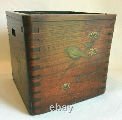 Rare Form Japanese Meiji Antique Hibachi With Makie Decorations HOT DEAL