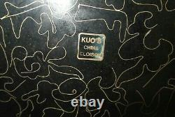 Rare Huge 145/8 W. Robert Kuo Chinese Cloisonne Enamel Abstract Design Plate