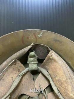 Rare Imperial Japanese Army Iron Hel met Type 90 Military Antique JAPAN