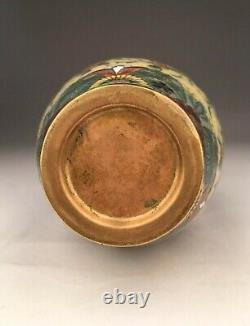 Rare Japanese Antique Cloisonné Vase Meiji Period, 19C