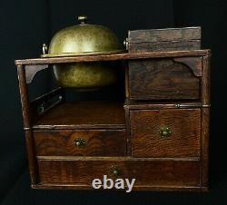 Rare Japanese Antique Tobacco Bon Ashtray Box Set (b664)