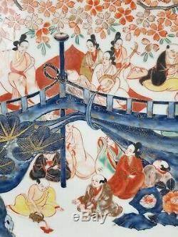 Rare Japanese Imari Charger Late Edo Early Meiji 19th Century 16 Porcelain