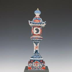 Rare Japanese Imari pagoda shaped candle stick, ca. 1900