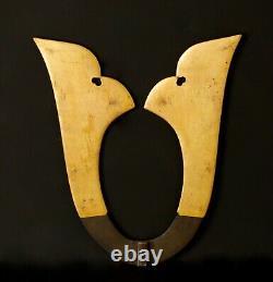 Rare Japanese Kuwagata Maedate Samurai helmet crest Edo era PP87