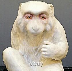 Rare Japanese Meiji Satsuma Okimono Snow Monkey by Chin Jukan