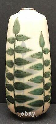 Rare Japanese Meiji Silver Wire & Wireless Cloisonne Vase By Gonda