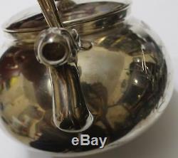 Rare Japanese Royal Craftsman Manufacture Silver Teapot