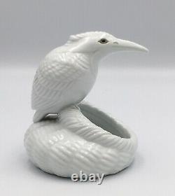 Rare Japanese Taisho Nabeshima Porcelain Okimono-Kingfisher