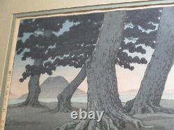 Rare Kawase Hasui Woodblock Print Coastal Landscape Modernism Japanese Antique