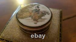Rare Satsuma vase /chaire /tea caddy by Seikozan, Meiji Period, 4.5 tall