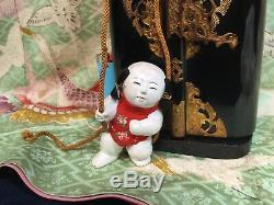 Rare Set Edo Gosho Ningyo Palace Dollshi Sheen Gofunsilk Vestsgold Embroidery