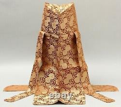 Rare set of Shinto, Buddhist Priest brocade silk Hat. Y79