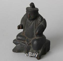 Rare shinto Ebisu Sculpture, 18-19th century! CC71