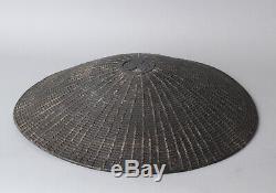 Rare woven samurai Hat, Jingasa Edo, 18-19 th. C BB31
