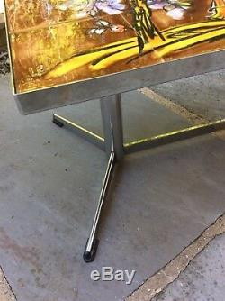 Rarely Available Signed Vallauris Japanese Design Vintage Tiled Vgc Coffee Table
