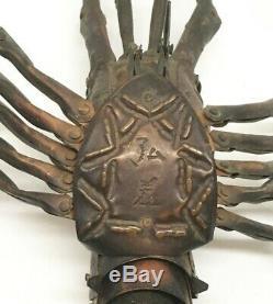 Signed Meiji Era (1868-1912) Jizai Okinomo Copper Articulated Crayfish, RARE
