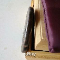 TSUBA Antique iron samurai sword guard koshirae katana wakizashi Rare F/S
