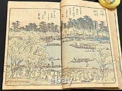 Ukiyo-e Japanese Woodblock Print Book Ehon YODOGAWA River 1806 Edo Period Rare 3