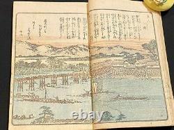 Ukiyo-e Japanese Woodblock Print Book Ehon YODOGAWA River 1806 Edo Period Rare 4