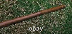 Unusual/rare Long Folk Art Carved Walking Stick/stick Scandinavian/japanese