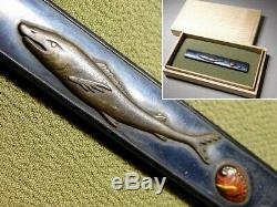 Very Rare Shark Large KOZUKA 18-19thC Japanese Edo Original Antique Koshirae