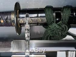 Very rare Japanese Sword and Wakizashi Dai Sho set Masahiro 2 body test cutting